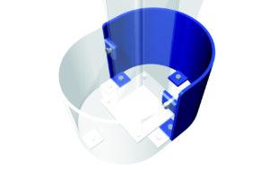 Påkörningsskydd för entresol pelare
