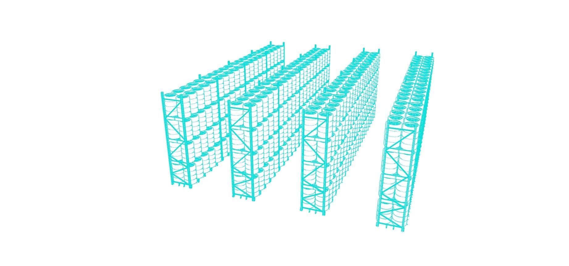 Däckställ 3D ritningar