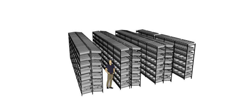 hyllställ 3d lutande lådor