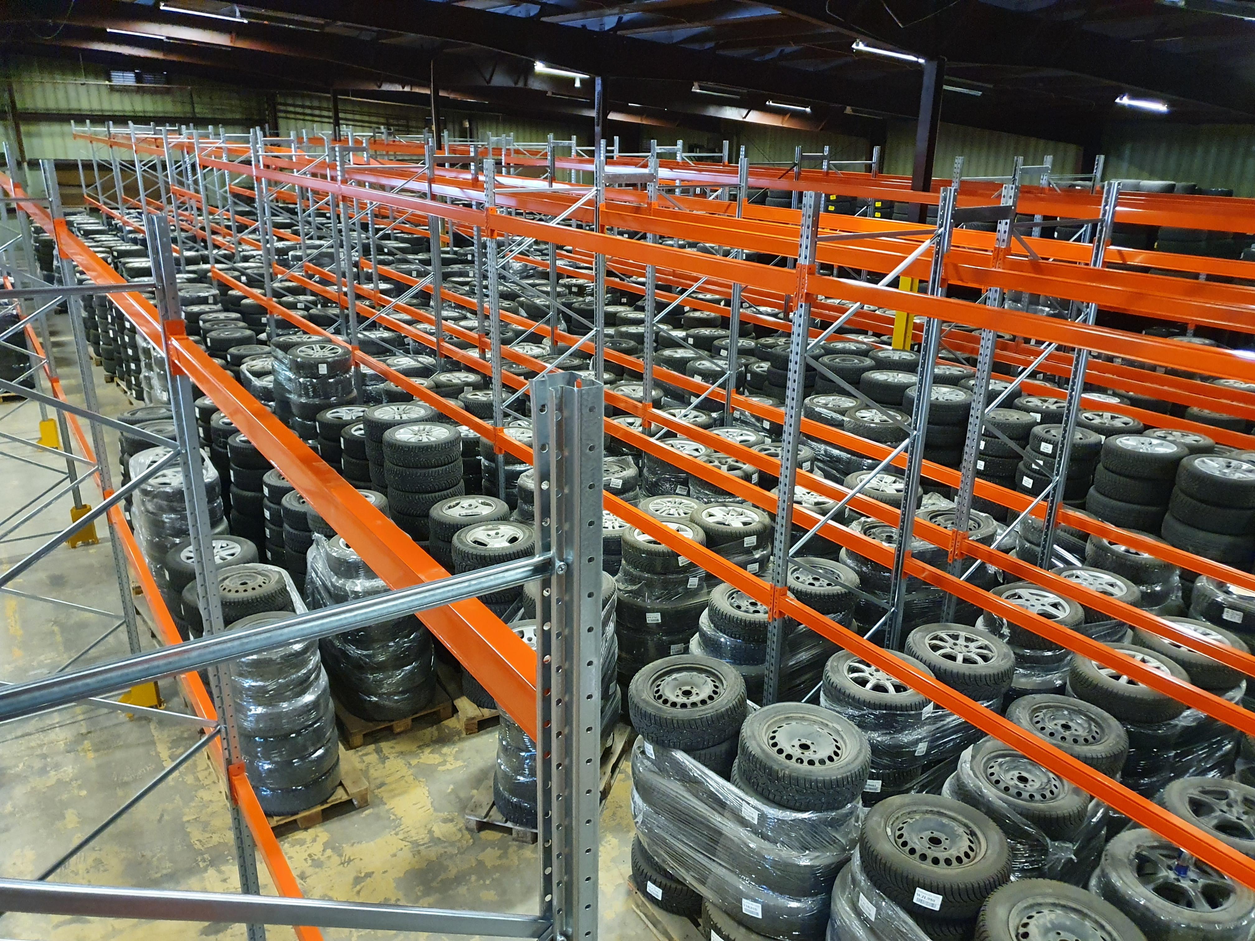 Färdig monterad däckställ